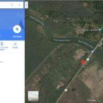 satellite image of parking lot